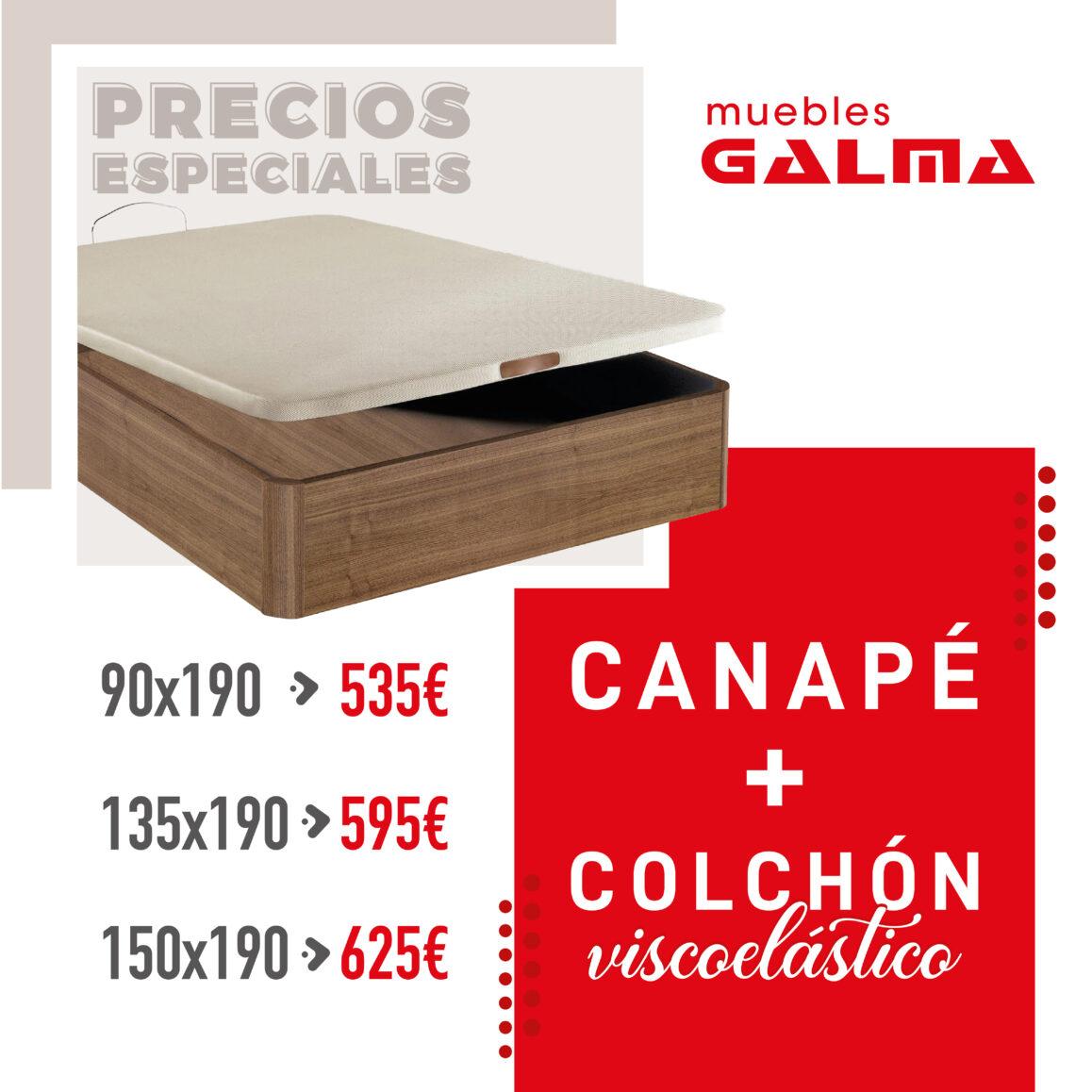 Oferta Canapé + Colchón viscoelástico